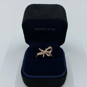 Tiffany & Co. Diamond Bow Ring in 18K Rose Gold